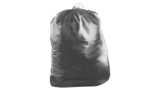 Durable-Black-Nylon-Drawstring-Stow-Bag